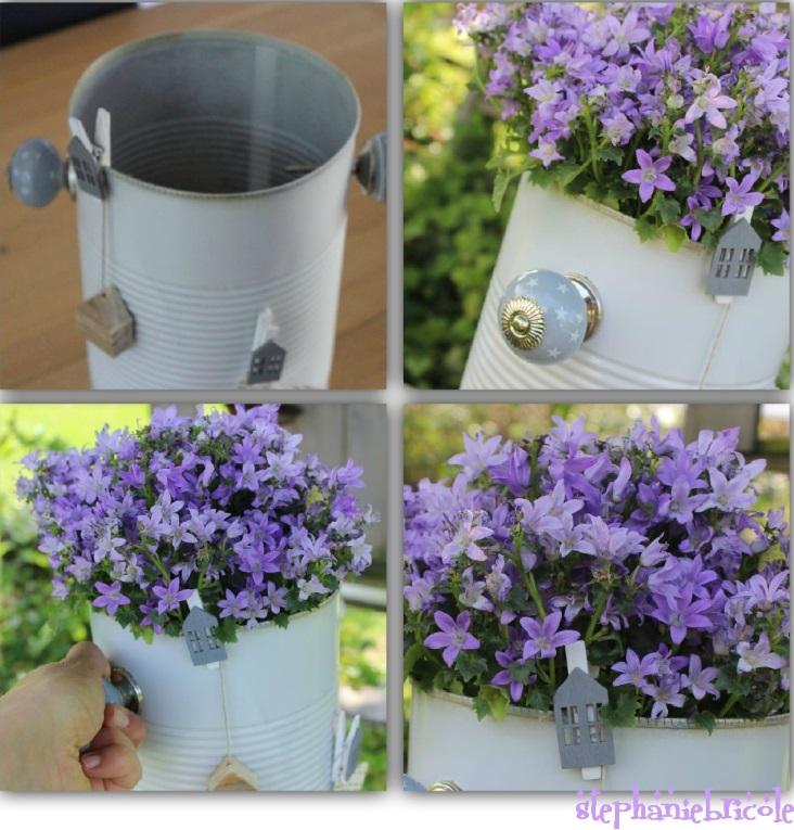 DIY pot de fleur et boite de conserve