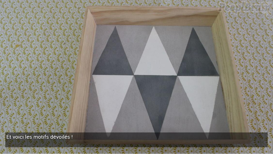 Plateau à motifs géométriques