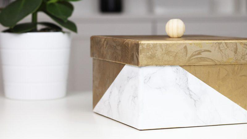 Une jolie boite en carton DIY