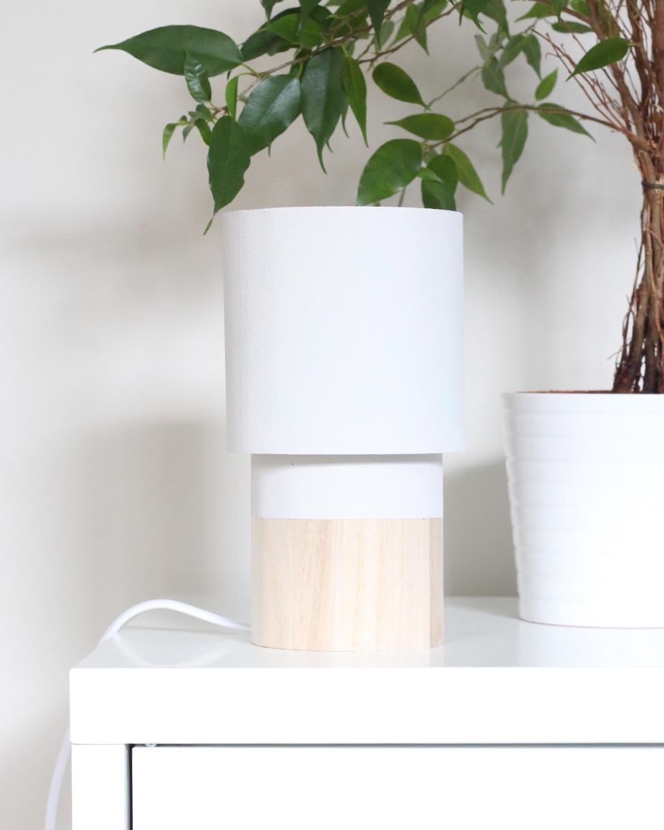 Une lampe en bois à faire vous même