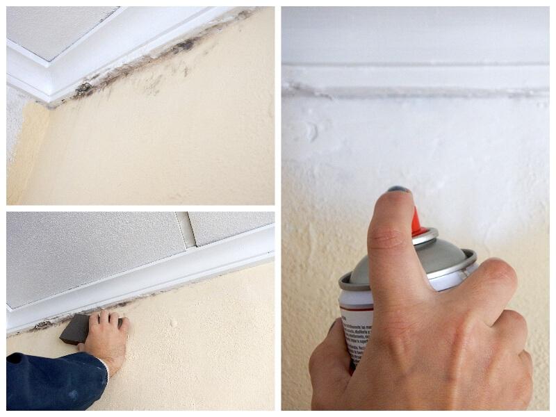 Enlever les taches d'humidité avec notre spray anti-humidité