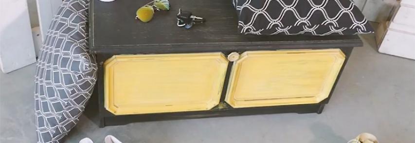 Rénovation d'un meuble à chaussure