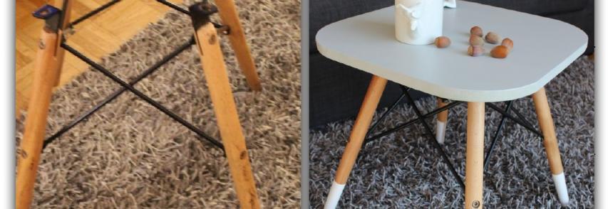 Customiser un pied de chaise en guéridon